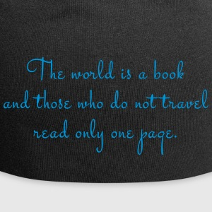 The world is a book. - Jersey Beanie