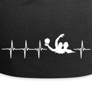 I love water polo (water polo heartbeat) - Jersey Beanie