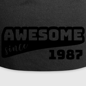 Awesome siden 1987 / Birthday-Shirt - Jersey-beanie