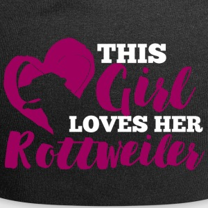 Dog / Rottweiler: This Girl Loves Her Rottweiler - Jersey Beanie
