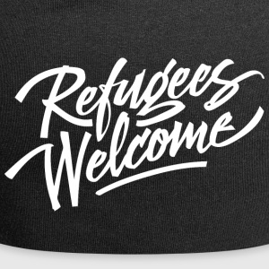 refugees welcome - Jersey Beanie