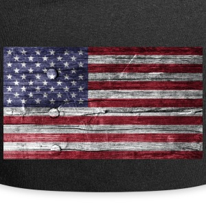 Amerika Flagge Holz Look - Jersey-Beanie
