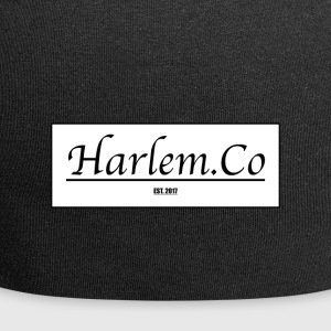 Harlem Co logo White and Black - Jersey Beanie