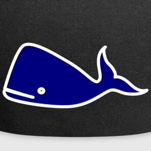 whale51 - Beanie in jersey