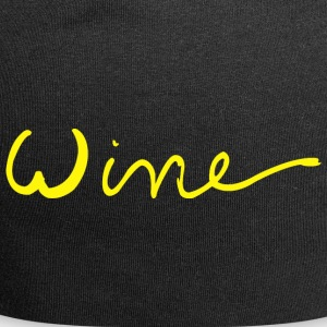 Wine art logo YELLOW - Jersey Beanie