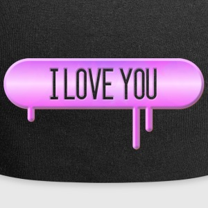 I LOVE YOU 003 AllroundDesigns - Jersey Beanie