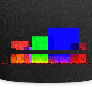 Colourful abstract shapes novel - Jersey Beanie