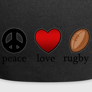 Peace Love Rugby - Beanie in jersey