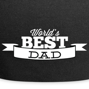 world best dad white - Jersey Beanie