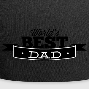 world best dad black - Jersey Beanie