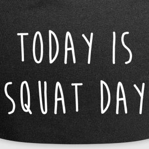TODAY IS SQUAT DAY - Jersey Beanie