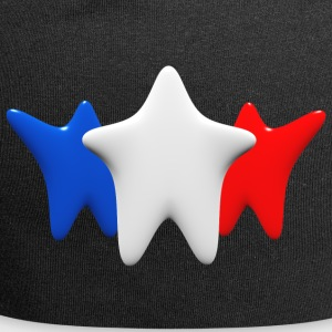 Stars in blue, white and red - Jersey Beanie