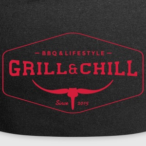 BBQ and Chill / BBQ and Lifestyle logo 1 - Jersey Beanie