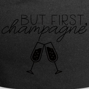 New Years Eve: But First, Champagne. - Jersey Beanie
