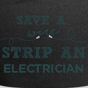 Elektriker: Save a wire. Strip an Electrician. - Jersey-Beanie