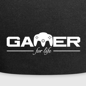 Gamer For Life White by JuiceMan Benji - Jersey Beanie