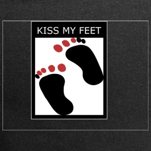 kiss my feet logo - Beanie in jersey