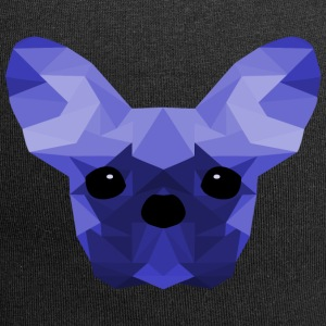French Bulldog blu Low Poly design - Beanie in jersey