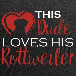 Hund / Rottweiler: This Dude Loves His Rottweiler - Jersey-Beanie