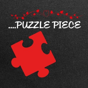 Missing Puzzle Teil 2 weiss - Jersey-Beanie