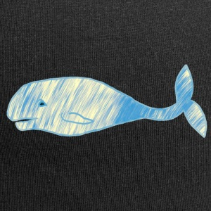 Whale vintage blue gold - Jersey Beanie