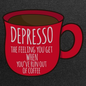 Kaffee: Depresso - the feeling you get when ... - Jersey-Beanie