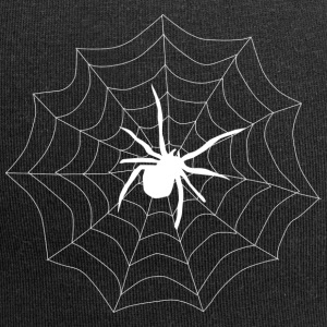 Spider on its web - Jersey Beanie