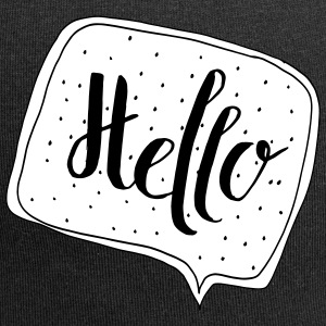 """Hello"" Speech Bubble - Jersey Beanie"