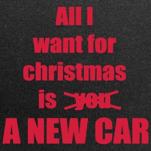 Christmas song saying new car - Jersey Beanie