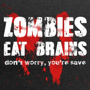 Zombies eat brains - Jersey Beanie