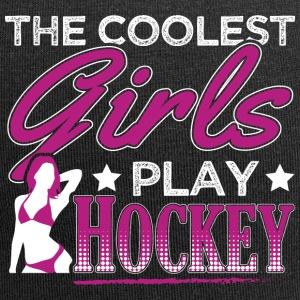COOLEST GIRLS PLAY HOCKEY - Jersey Beanie
