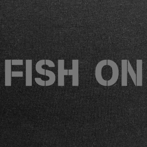 fish on scripture gray - Jersey Beanie
