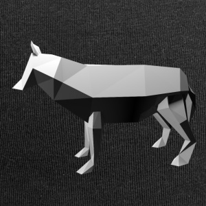 Low Poly 3D - Wolf - Jersey-Beanie