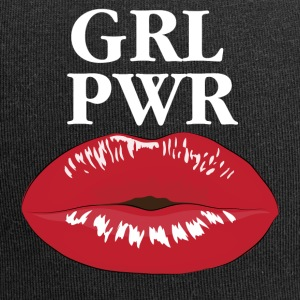 GRL PWR Girl Power Kiss T-Shirt - Jersey-Beanie