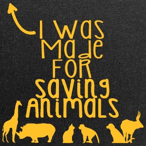 I was born to save animals - Jersey Beanie