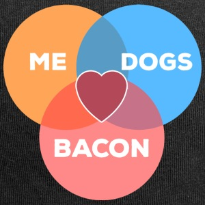 me + dogs + bacon - Jersey Beanie
