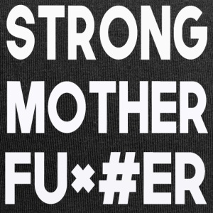 strong motherfu + # it - Jersey Beanie