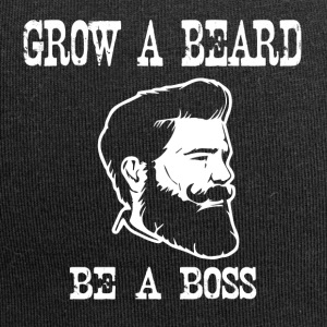 grow a beard be a boss - Jersey Beanie