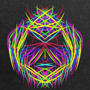 face trippy abstract psychedelic colorful - Jersey Beanie