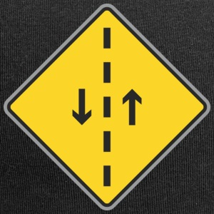 Road Sign both direction and dashed line - Jersey Beanie