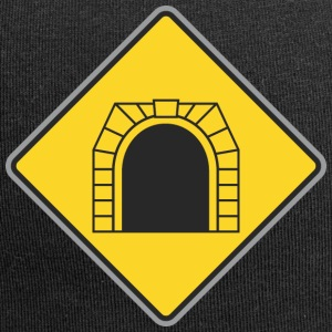 Road Sign train tunnel - Jersey Beanie
