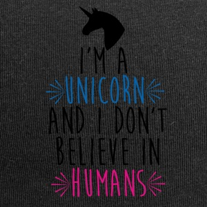 Unicorn - Dont believe in Humans - Jersey Beanie