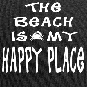 The Beach is my Happy Place - Jersey Beanie