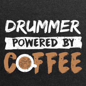 Drummer supported by coffee funny saying - Jersey Beanie