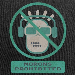 Blue moron prohibited - Jersey Beanie