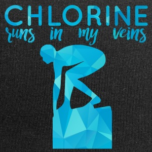 Swimming / Swimmer: Chlorine runs in my veins - Jersey Beanie