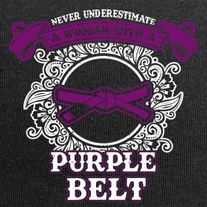 No woman with purple belt - Jersey Beanie