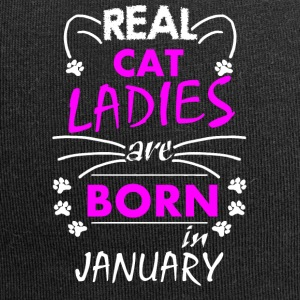 Real Cat Ladies are born in January - Jersey-Beanie