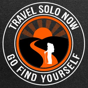 Travel Solo Now, Go Find Yourself - Jersey Beanie