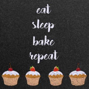 EAT SLEEP BAKE REPEAT VINTAGE LOOK SHIRT - Jersey-Beanie